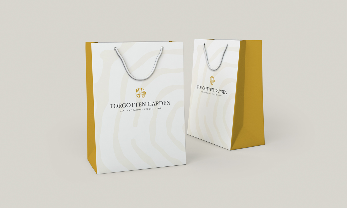 Rok Jurman Design for Forgotten Garden (Portorož) - paper bag