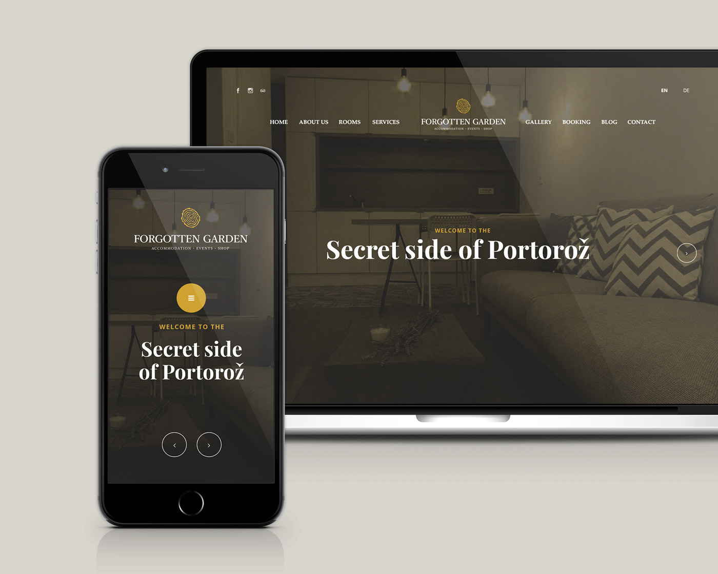 Rok Jurman Design for Forgotten Garden (Portorož) - website design