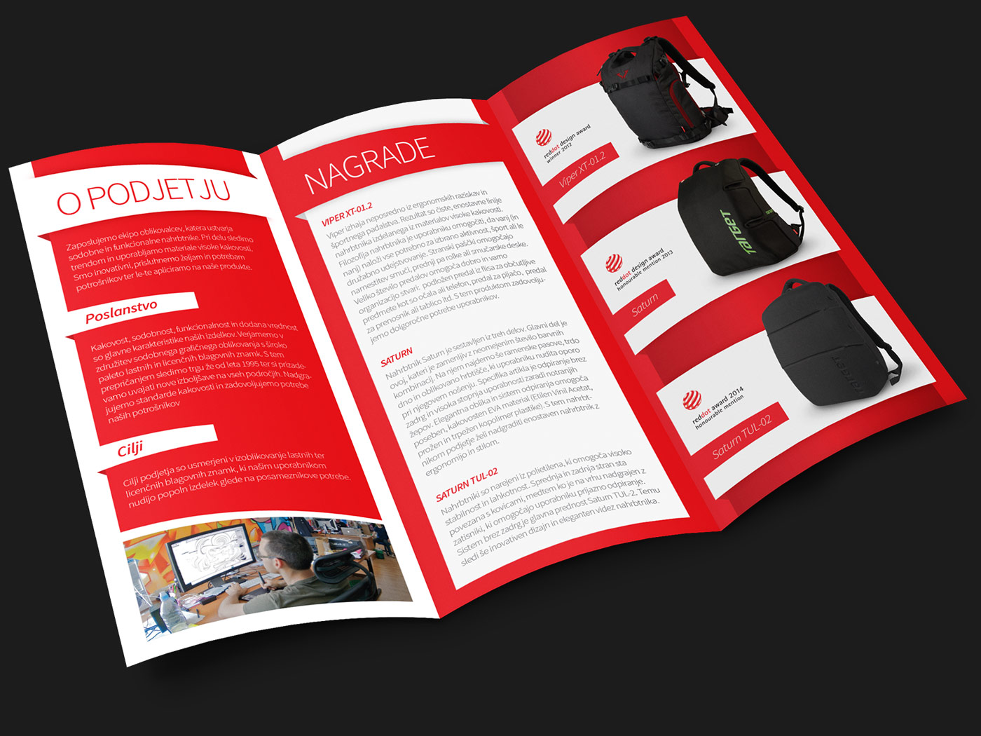 Rok Jurman Design for Target and Viper Bags (Izola) - brochure