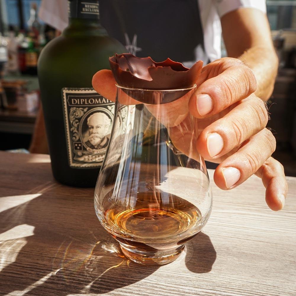 Rum Diplomatico with chocolate (photo by Rok Jurman Design)