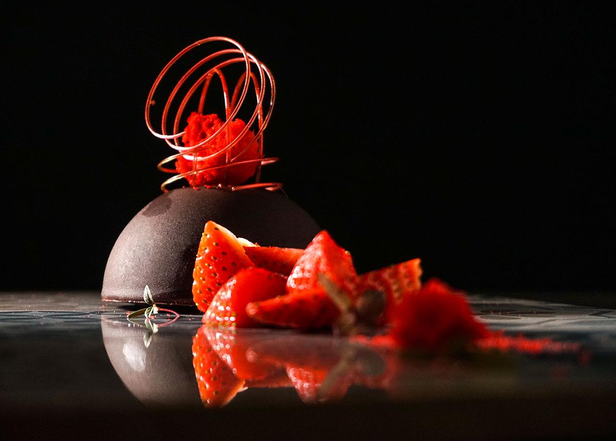 Chocolate and strawberries dessert (photo by Rok Jurman Design)