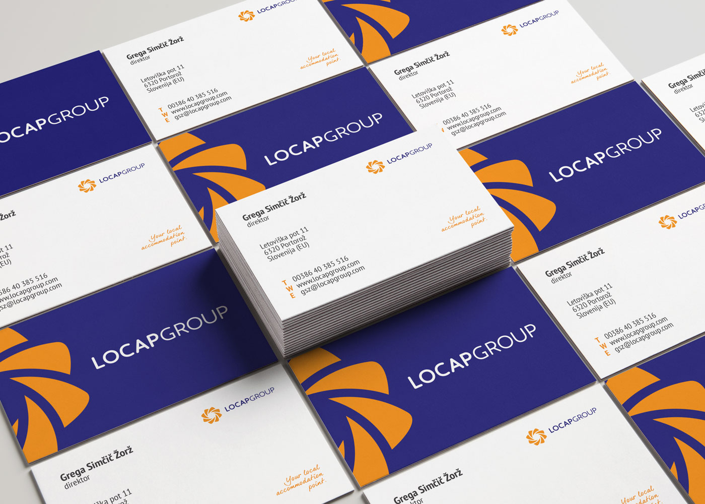Rok Jurman Design for Locap Group (Portorož and Piran) - business cards