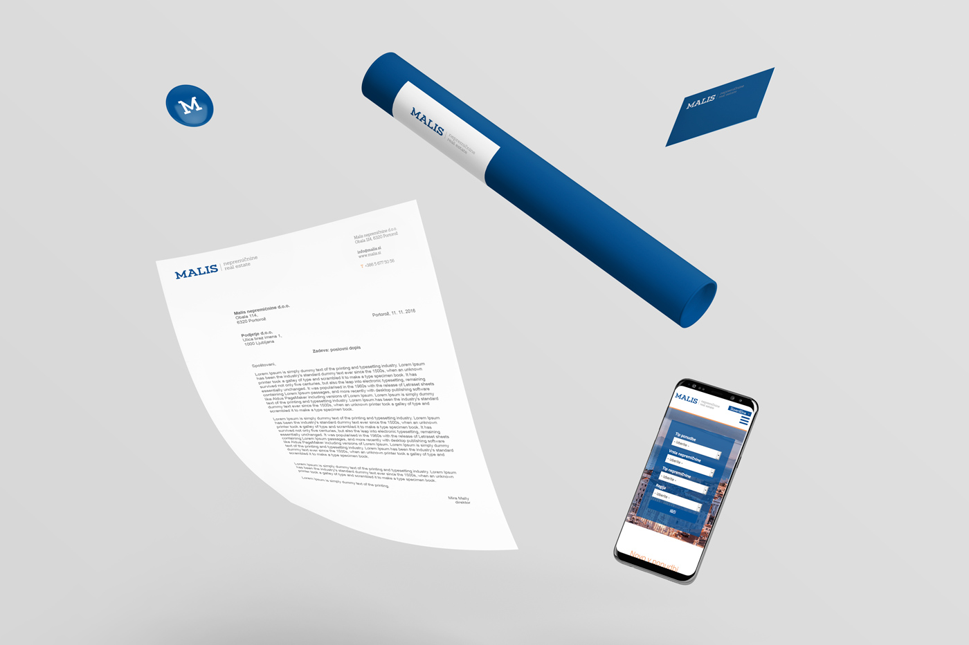 Rok Jurman Design for Malis Real Estate (Portorož) - stationary