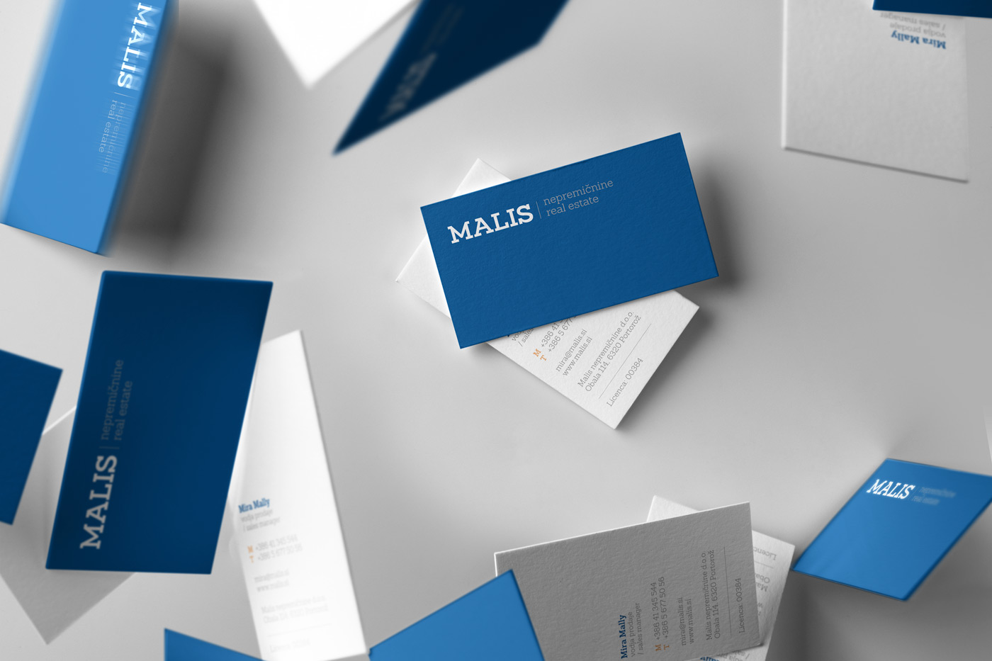 Rok Jurman Design for Malis Real Estate (Portorož) - business cards